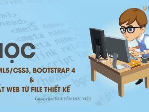 Học HTML5/CSS3/Bootstrap 4 và học cắt web