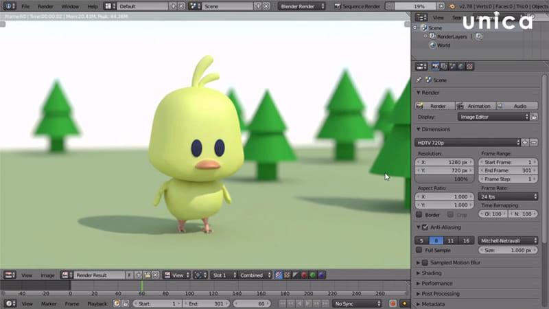 Làm phim hoạt hình 3D bằng Blender