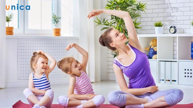 Yoga tăng trưởng chiều cao và trí thông minh cho trẻ