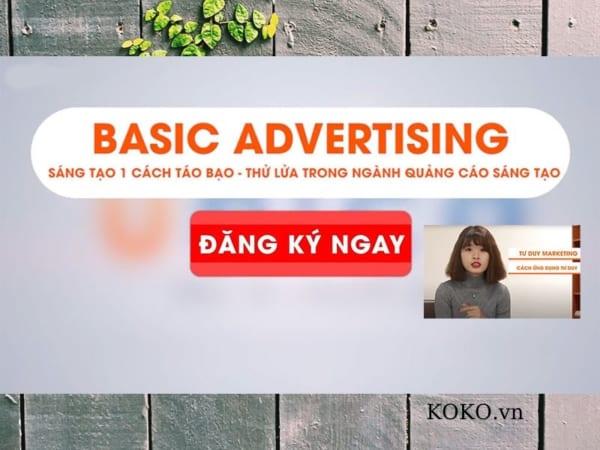 Basic Advertising Sáng tạo 1 cách táo bạo
