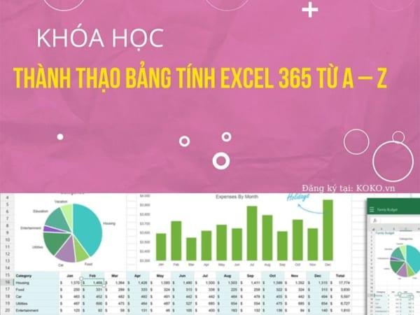 Thành thạo bảng tính Excel 365 từ A - Z